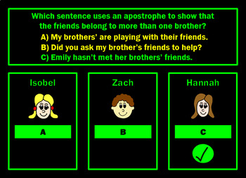 Possessive Apostrophes Powerpoint Game by Grammatickx