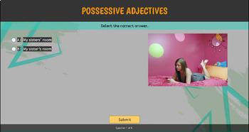ESL / EFL Grammar Quiz: Possessive Adjectives