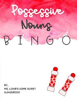 Possessive Noun Bingo