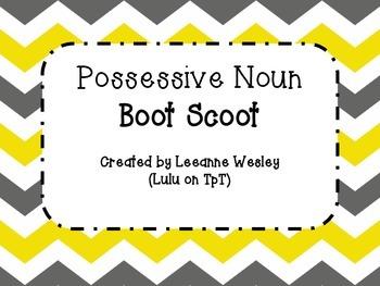 Possessive Noun Boot Scoot