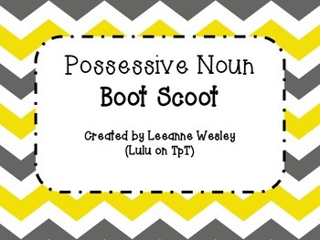 Possessive Noun Boot Scoot