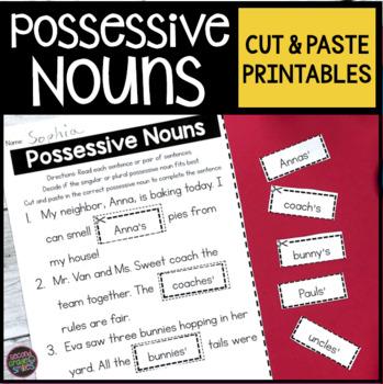 Possessive Nouns Cut and Pastes