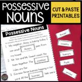 Possessive Nouns Worksheets Cut and Paste