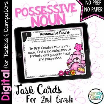 Possessive Noun Task Cards - Digital for Google Classroom Use