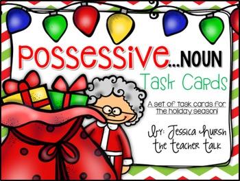Possessive Noun Holiday Task Cards