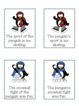 Possessive Noun Penguin Match