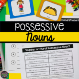 Possessive Nouns Game, Literacy Centers, Worksheets