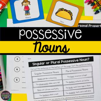 Possessive Nouns Game, Literacy Centers, Printables