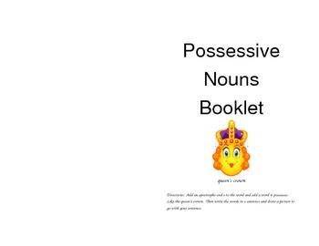 Possessive Noun Practice Booklet