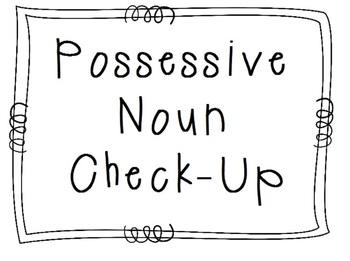 Possessive Noun Quick Worksheet