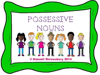 Possessive Noun Scoot Task Cards