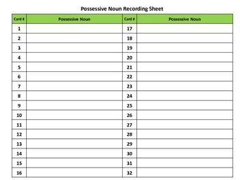 Possessive Noun Scoot Task Cards