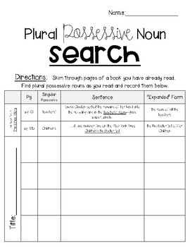 Possessive Noun Search