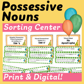 Possessive vs. Plural Noun Sort