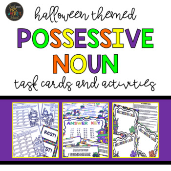 Halloween Activities - Possessive Nouns