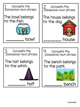 Possessive Noun Task Cards