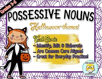 Possessive Nouns Task Cards Halloween theme