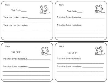 Possessive Nouns Task Cards