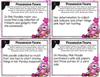 Possessive Noun Task Cards - L.2.2.C