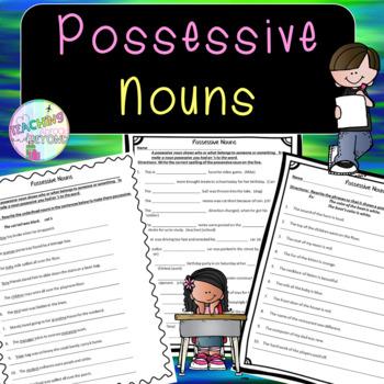No-Prep - Possessive Nouns