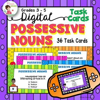 Possessive Nouns - Digital Task Cards for Google Drive