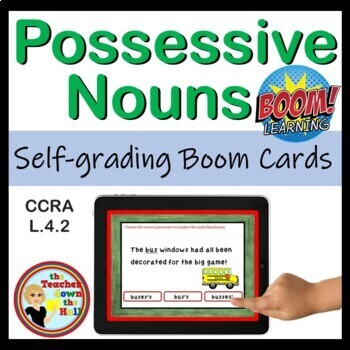 Possessive Nouns BOOM Cards - 24 Self-checking cards!