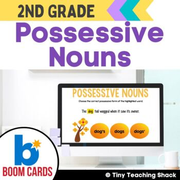Possessive Noun Boom Cards Distance Learning