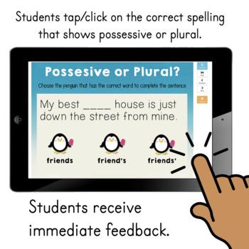 Possessive Nouns DIGITAL Task Cards BOOM CARDS