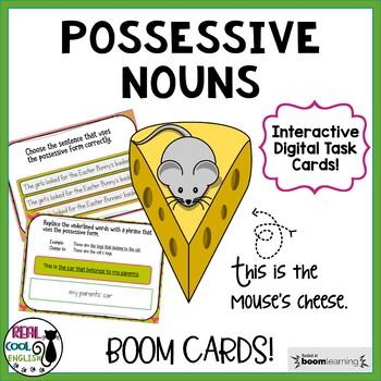 Possessive Nouns Digital Task Cards (Boom Cards)