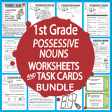 Possessive Nouns Activities + Lesson, COLOR Poster, Possessive Nouns Worksheet