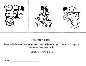Possessive Nouns Flip Book