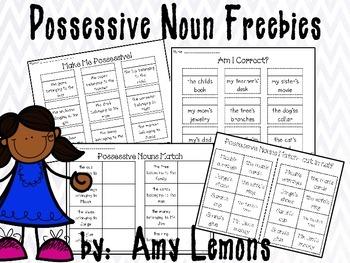 Possessive Nouns Freebie