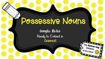 Possessive Nouns: Google Slides to Embed in Canvas