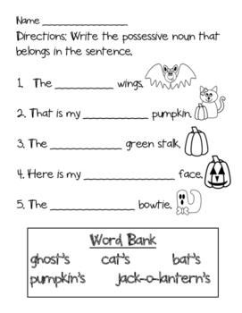 Possessive Nouns: Halloween Style!