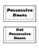 Possessive Nouns Interactive Notebook