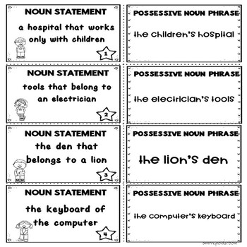 Possessive Nouns Center Activity