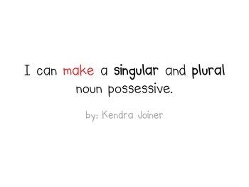 Possessive Nouns PPT