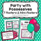 Singular and Plural Possessive Nouns Posters and Mini Posters