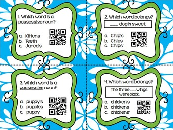 Possessive Nouns QR Codes