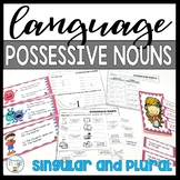 Possessive Nouns worksheets, task cards, and cut and paste