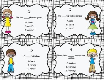 Possessive Nouns Scoot! Task Cards