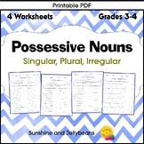 Possessive Nouns - Singular-Plural-Irregular - 4 Worksheet