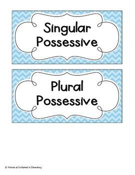 Possessive Nouns Sort