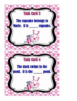 Possessive Nouns - Task Cards
