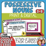 Possessive Nouns Task Cards for Singular and Plural