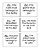 Possessive Nouns Task Cards & Recording Page