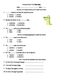 Possessive Nouns Test 3rd Grade