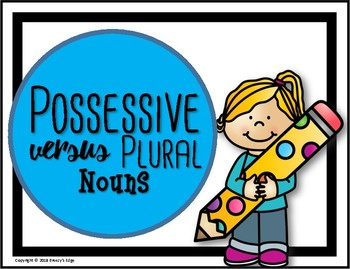 Possessive Nouns Versus Plural Nouns Anchor Chart for Interactive Notebook