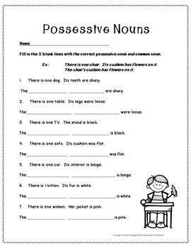 No-Prep - Possessive Nouns - What the Noun Owns
