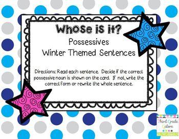 Possessive Nouns - Winter Theme